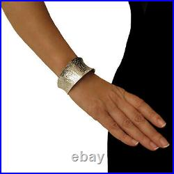 Hallmarked Solid 925 Sterling Silver Fitted Swirl Bracelet Cuff Gift Boxed