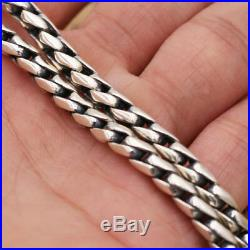Heavy Solid Sterling Silver Thai Silver Keel Chain 5mm Men's Necklace 18-24