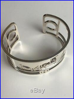 Hermes Caleche Bracelet Solid Sterling Silver 925 Horse & Carriage Mint