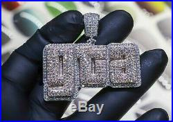 HipHop Style Diamond Studded Lucky''GTA'' Pendant Solid 925 Sterling Silver