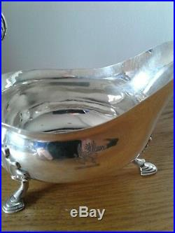 IRISH PROVINCIAL CORK SOLID STERLING SILVER LARGE SAUCE BOAT c1790