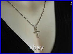 James Avery Retired Nail Cross Pendant Necklace Solid 925 Sterling Silver 26