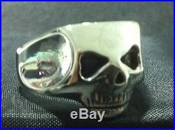Johnny Depp SKULL RING Exact Jack Sparrow solid sterling silver 925
