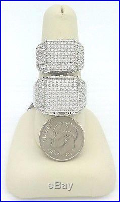 Ladies Women's Solid 925 Sterling Silver CZ Cinderella Promise Engagement Ring