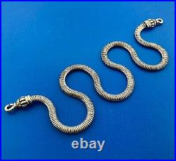 Lagos Caviar Necklace Choker Snake Solid 925 Sterling Silver 18K Gold 750 16.5