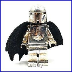 Lego Mandalorian Boba Fett CUSTOM MiniFigure Solid Sterling Silver