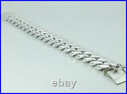 MENS SOLID 925 STERLING SILVER CUBAN CURB LINK 15mm WIDE 8 HEAVY BRACELET 120g