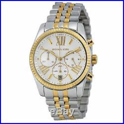 MICHAEL KORS MK5955 Lexington Chronograph Mother of Pearl Two Tone Ladies Watch