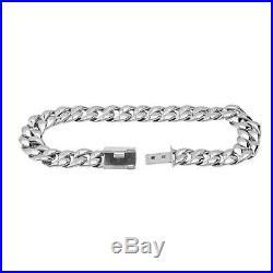 Man's Bracelet, 10.2mm Cuban Link, Bracelet In Solid 925 Silver Gift For Him