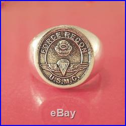 Marine USMC Force Recon Ring Solid Sterling Silver