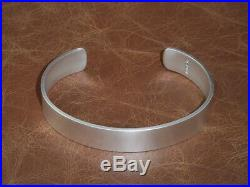 Men's Gents Solid 925 Sterling Silver Open Matte Look Torque, Bangle, Bracelet
