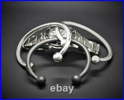 Men's Heavy Solid 925 Sterling Silver Oxidised Silver Torque Bangle Bracelet