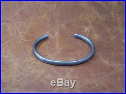 Men's Oval Solid Sterling Silver Oxidized Silver Open Torque Bangle Bracelet