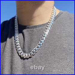 Men's Real Solid 925 Sterling Silver Miami Cuban Chain Heavy 24 x 14 mm Thick