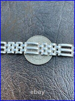 Men's Real Solid 925 Sterling Silver Presidential Panther Link Bracelet 10mm