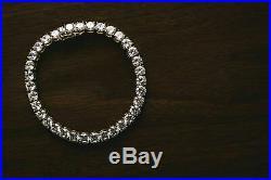 Men's Women's Tennis Bracelet SOLID 14K Yellow Gold Over Single Row Diamond 7.5