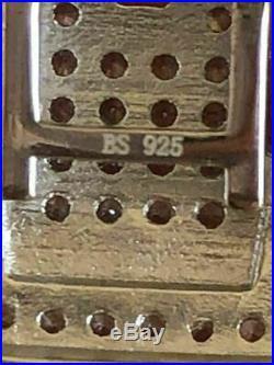 Mens Custom Bracelet Solid 925 Silver 12ct Diamonds 14mm Thick UNIQUE Piece