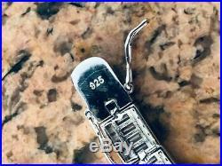 Mens Diamond Baguette Tennis Bracelet Solid 925 Sterling Silver 8mm Hip Hop ICY