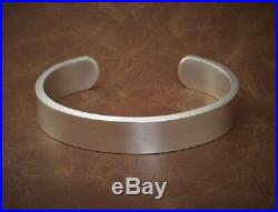 Mens Gents Solid 925 Silver X Heavy Vintage Matt Look Torque Bangle Bracelet