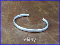 Mens Oval Solid Sterling Silver Vintage Matt Look Open Torque Bangle Bracelet