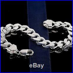 Mens Silver Bracelet 2oz Guaranteed, Hallmarked 925 Heavy Solid Chunky 9 Long