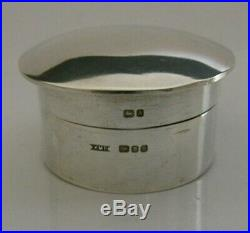 Modernist Hand Made Solid Sterling Silver Box 1984 Kmp Contemporary