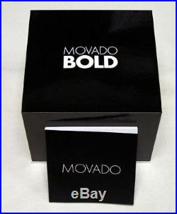 Movado Bold Men's Gold Dial Gold Tone Mesh Stainless Steel Watch 3600373