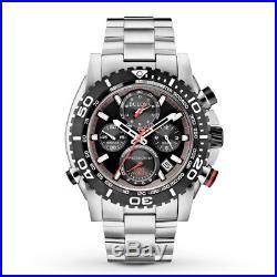NEW Bulova 98B212 Precisionist Chronograph Black Dial SSteel Tachymeter MSRP$895