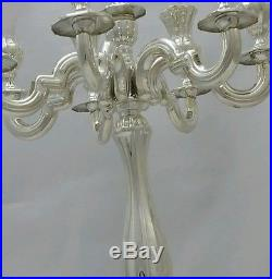 NEW Solid Silver Sterling 925 Candelabra 8 Branch Candle Holders Shabbat