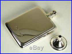 NEW Solid Sterling Silver HIP FLASK & FUNNEL Large Size Boxed