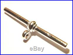 New Solid Sterling Silver T- Bar for Albert Chains 24mm x 2mm-Watch Fobs. 925