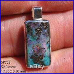 Opal Pendant Necklace 925 Sterling Silver Natural Solid Australian Jewelry SP758