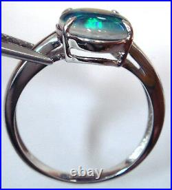 Opal Size 14x10mm Genuine Black Triplet Opal Ring Solid Sterling Silver Stamp925