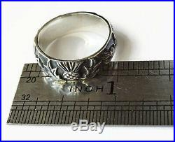 Outlander Thistle Knot Ring Replica Solid Sterling Silver Limited Edition