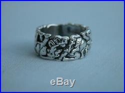 Patrick Mavros 1996 Zimbabwe Solid Sterling Silver Elephant Ring Size K 1/2
