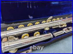 Pro Gemeinhardt Flute Solid Sterling Silver Head, Body, Foot & Keys, Open Hole