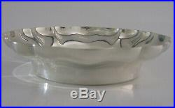 QUALITY ENGLISH SOLID STERLING SILVER FLOWER SHAPED DISH BOWL 1979 81g