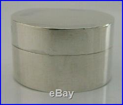 QUALITY MODERNIST SOLID STERLING SILVER SNUFF or PILL BOX 1985