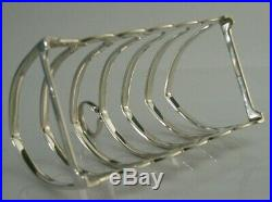 QUALITY SOLID STERLING SILVER SIX SLICE TOAST RACK 1932 ANTIQUE ENGLISH 133g