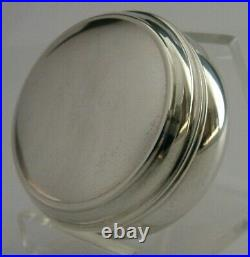 Quality English Solid Sterling Silver Snuff Pill Box 2001