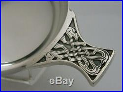 Quality Scottish Solid Sterling Silver Whisky Bowl Quaich 1997 Celtic