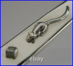 RARE SOLID STERLING SILVER GUILD of HANDICRAFTS CHEESE CUTTER 2007 MOUSE 66g