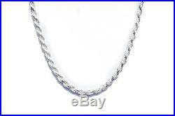 ROPE CHAIN Made in Italy Nickel Free SOLID. 925 STERLING SILVER CHAIN FREE SHIP