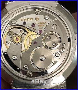 Rado Solid Silver (925) Manual Wind Calibre 847 33mm Mens Watch