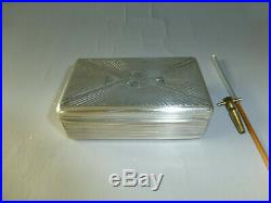 Rare Antique Sectional Comb Tabatiere Music Box Solid Sterling Silver Snuff Box