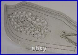 Rare English Solid Sterling Silver Fish Slice 1809 Antique Georgian