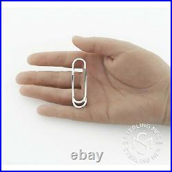 Real Sterling Silver. 925 Money Clip Solid Paper Clip Design Made in Italy