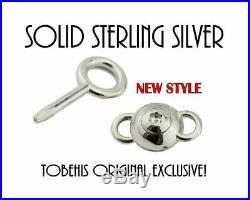 SOLID 925 Sterling Silver LOCK SCREW CLASP ALLEN KEY BDSM Slave Bondage Collar