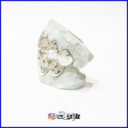 SOLID Sterling Silver NUGGET Cut Custom Fit Handmade Real GRILL GRILLZ