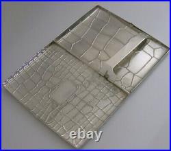 SUPERB ENGLISH SOLID STERLING SILVER CIGARETTE or CARD CASE 2001 110g